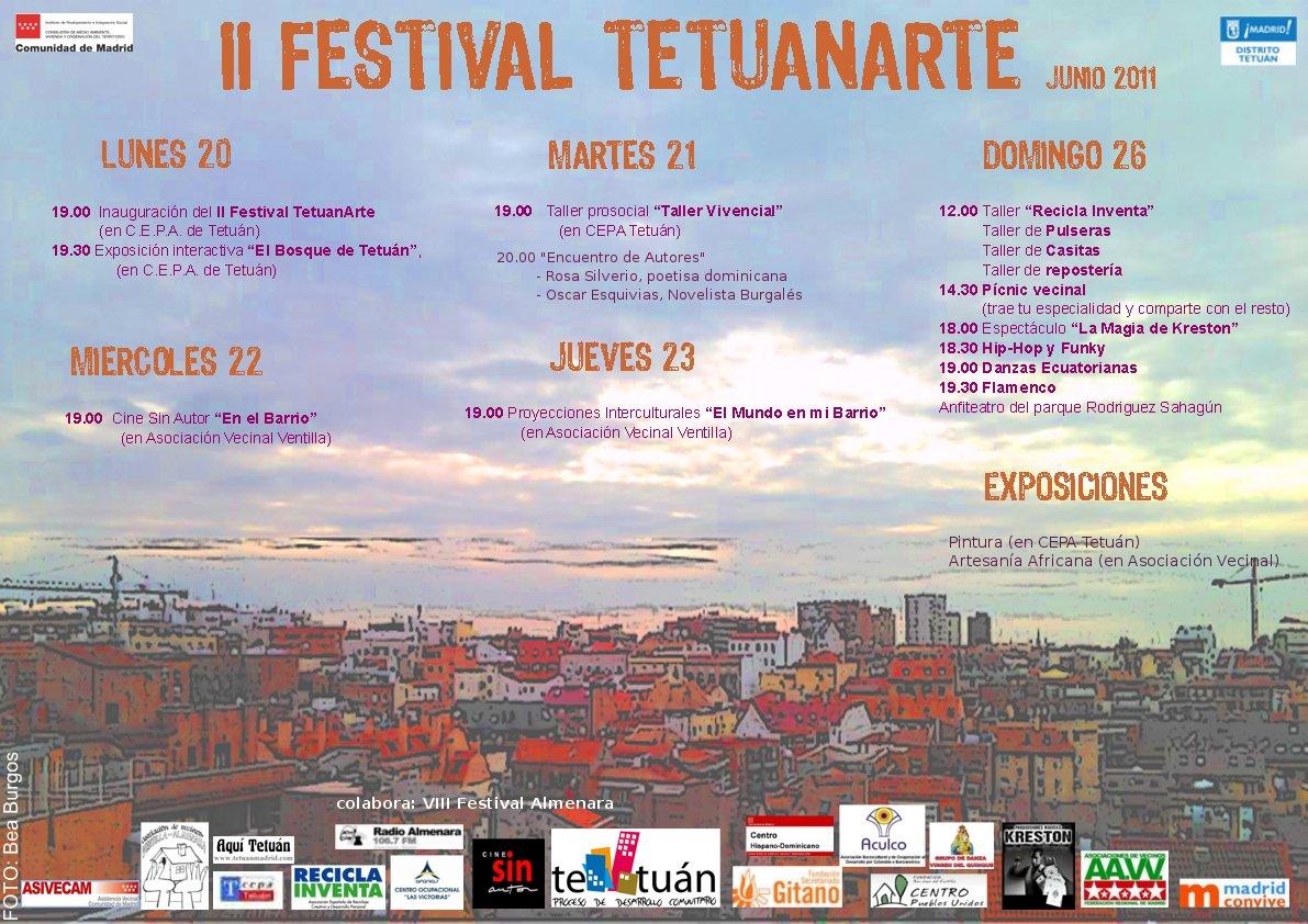 Fiestas de Tetuan, cartel