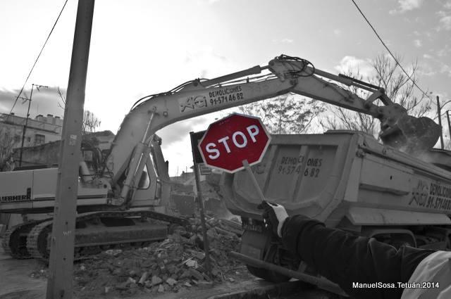 Demolición en Tetuán