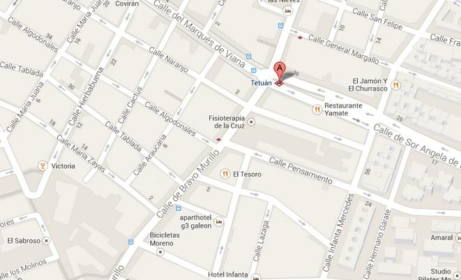 Metro Tetuán mapa de localizacion
