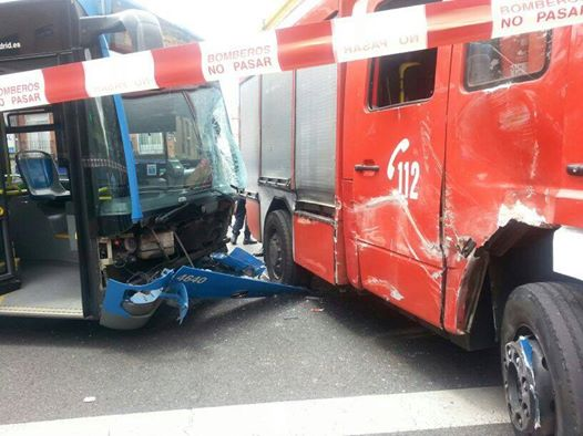 Accidente en Madrid